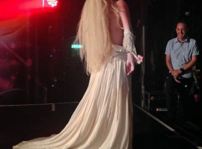 Lady Gaga Strips on Stage