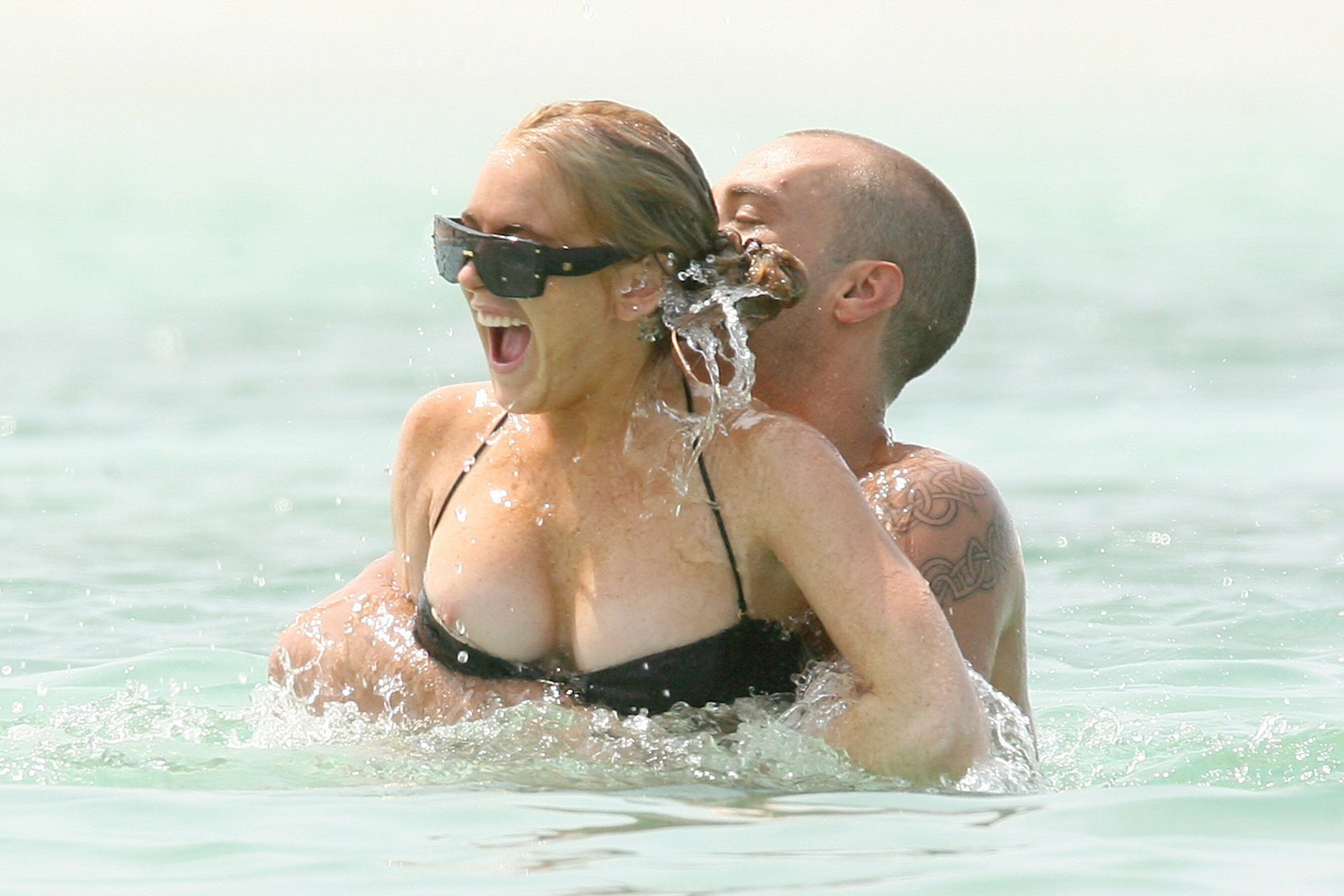 Lindsay Lohan Tit Exposed