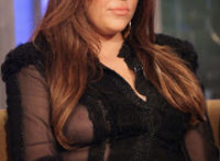 Khloe Kardashian Boob Slip