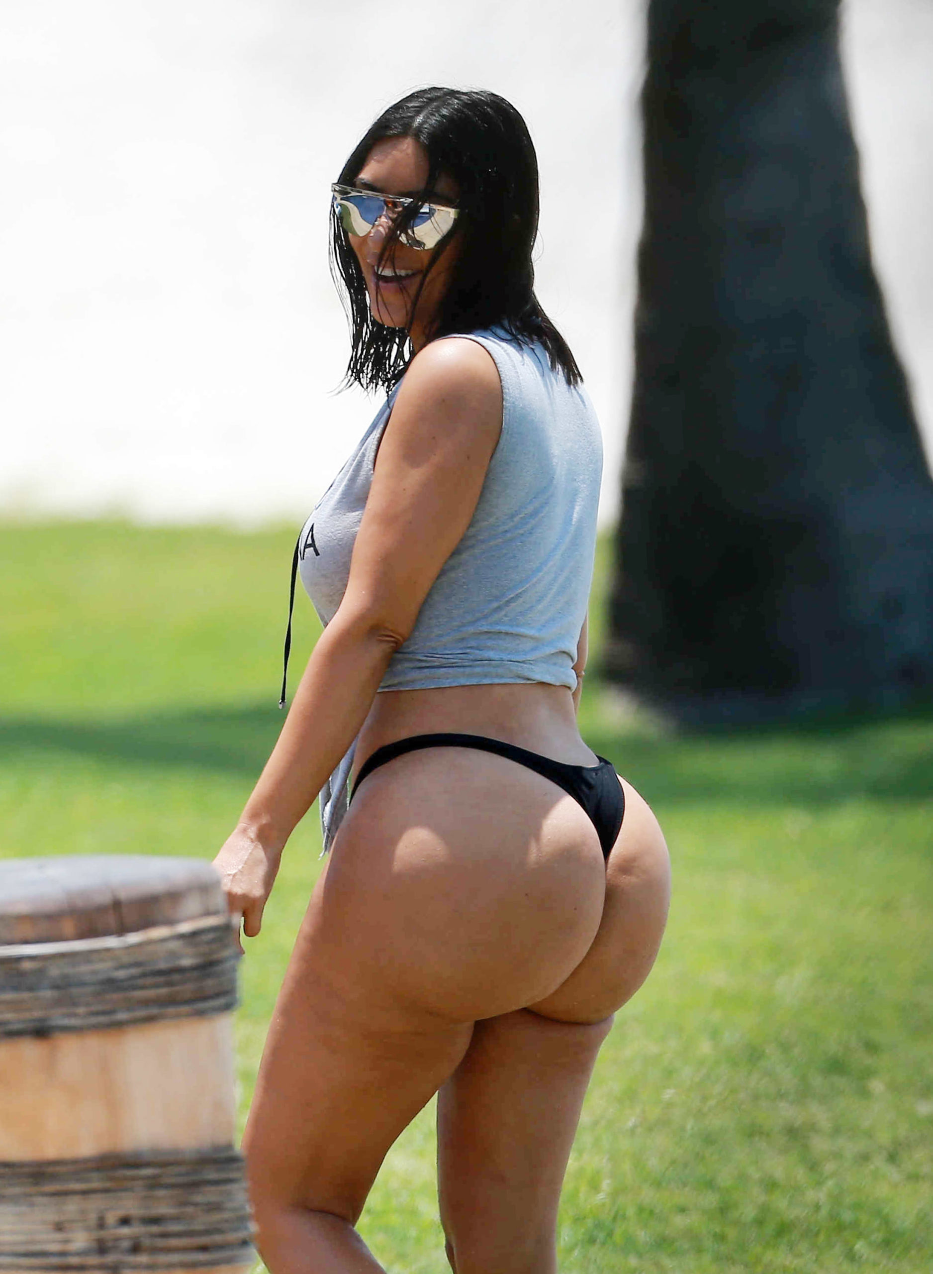Kim Kardashian Tiny Thong