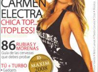 Carmen Electra Maxim Topless